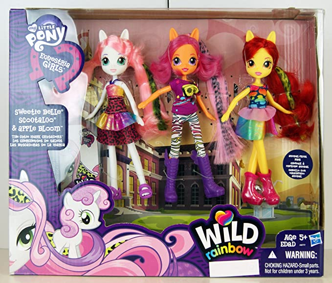 My Little Pony Equestria Girls Sweetie Belle, Scootaloo, and Apple Bloom Dolls 3-Pack: Amazon.es: Electrónica