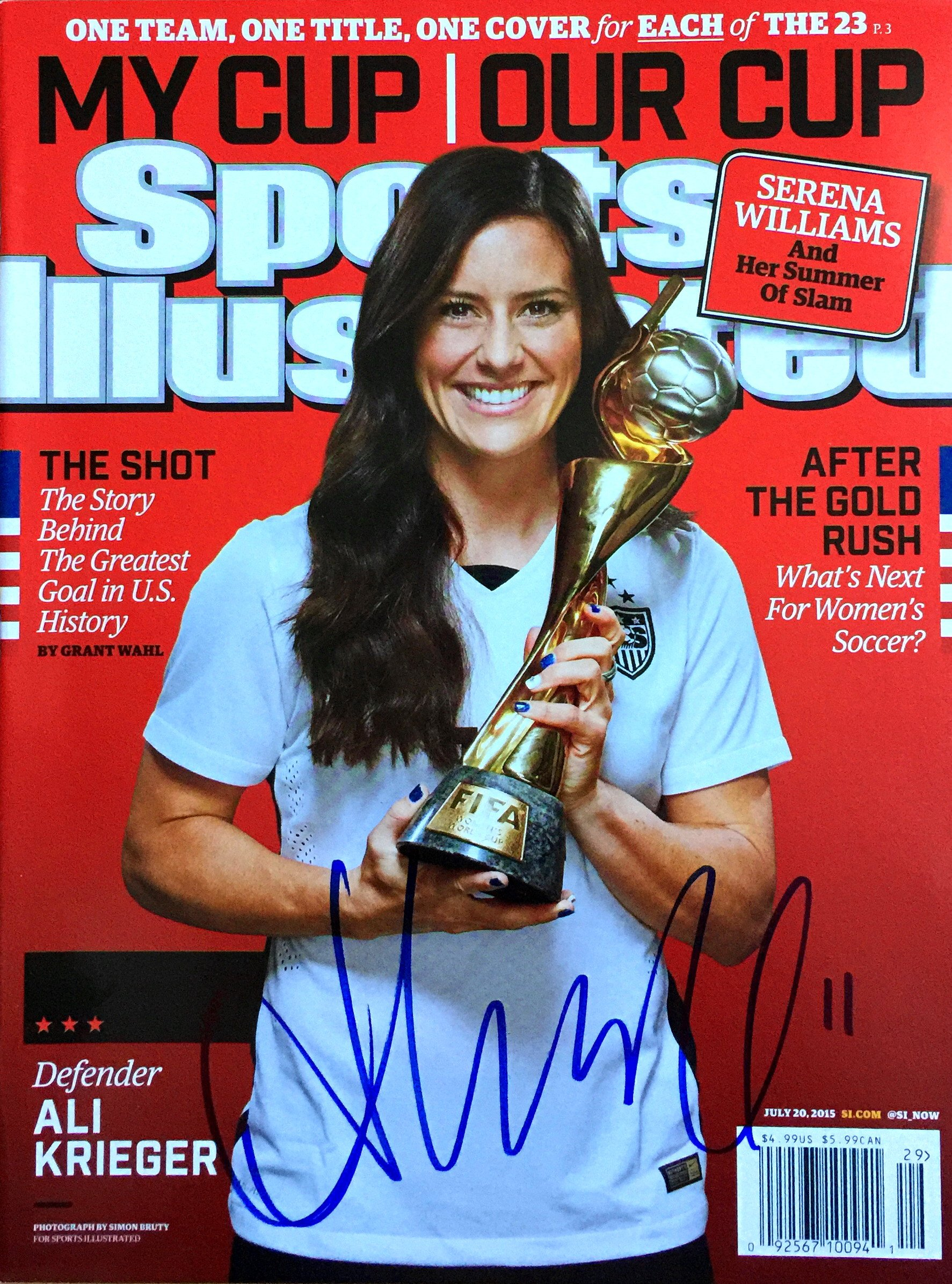 Ali Krieger USA Women's World Cup Soccer Autographed Sports Illustrated 7/20/15