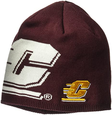 6c63338c817 adidas NCAA Central Michigan Chippewas Adult Men Glow in The Dark Beanie