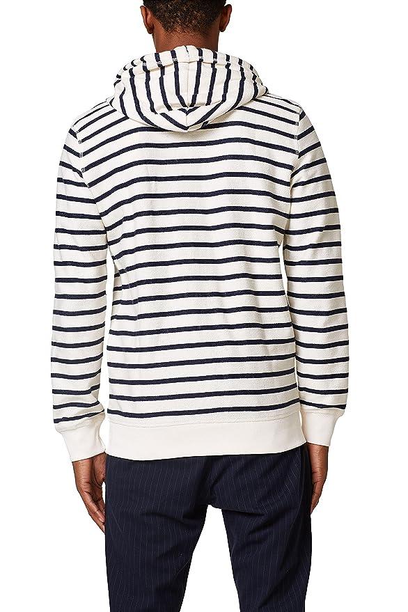028ee2j005, Sweat-Shirt Homme, Blanc (Off White 110), MediumEsprit