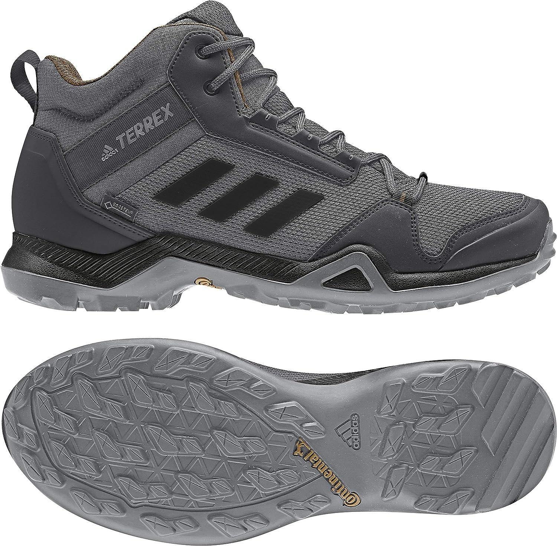 Amazon.com | adidas outdoor Men's Terrex AX3 Mid GTX Grey ...