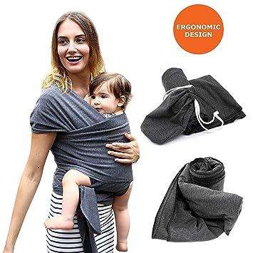 Amazon Com Mucha Ergonomic Baby Sling Wrap Carrier Soft Swaddle