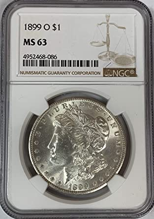 1899-O US Morgan Silver Dollar $1 NGC MS63