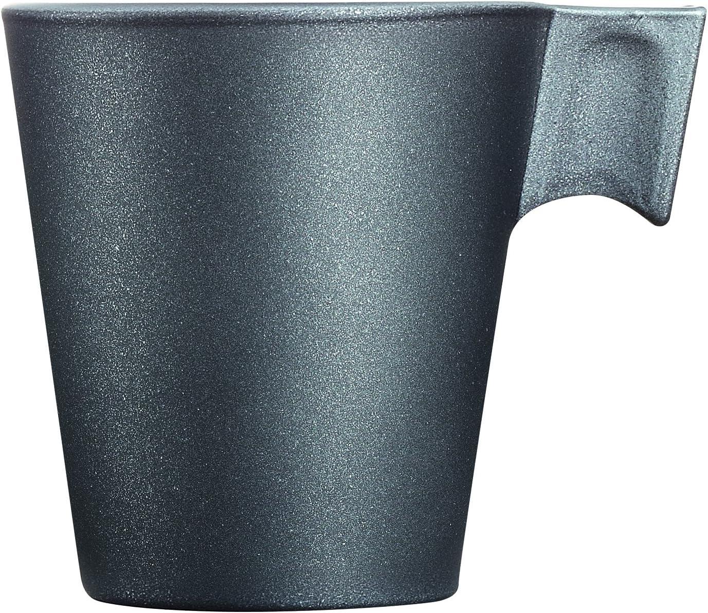 Nero 7.5x6x6.5 cm Luminarc Loft Stony Tazza caff/è