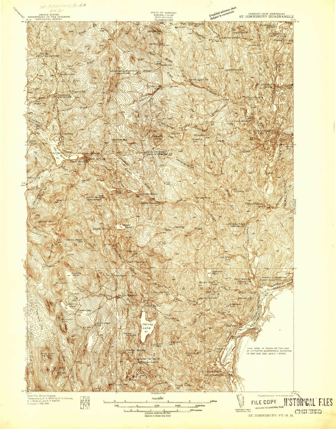 Northern Vermont Topographic Map   www.topsimages.com