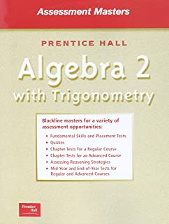 Amazon prentice hall algebra 2 with trigonomentry teachers algebra 2 wtrigononmetry 5e smith assessment masters 2001c fandeluxe Image collections