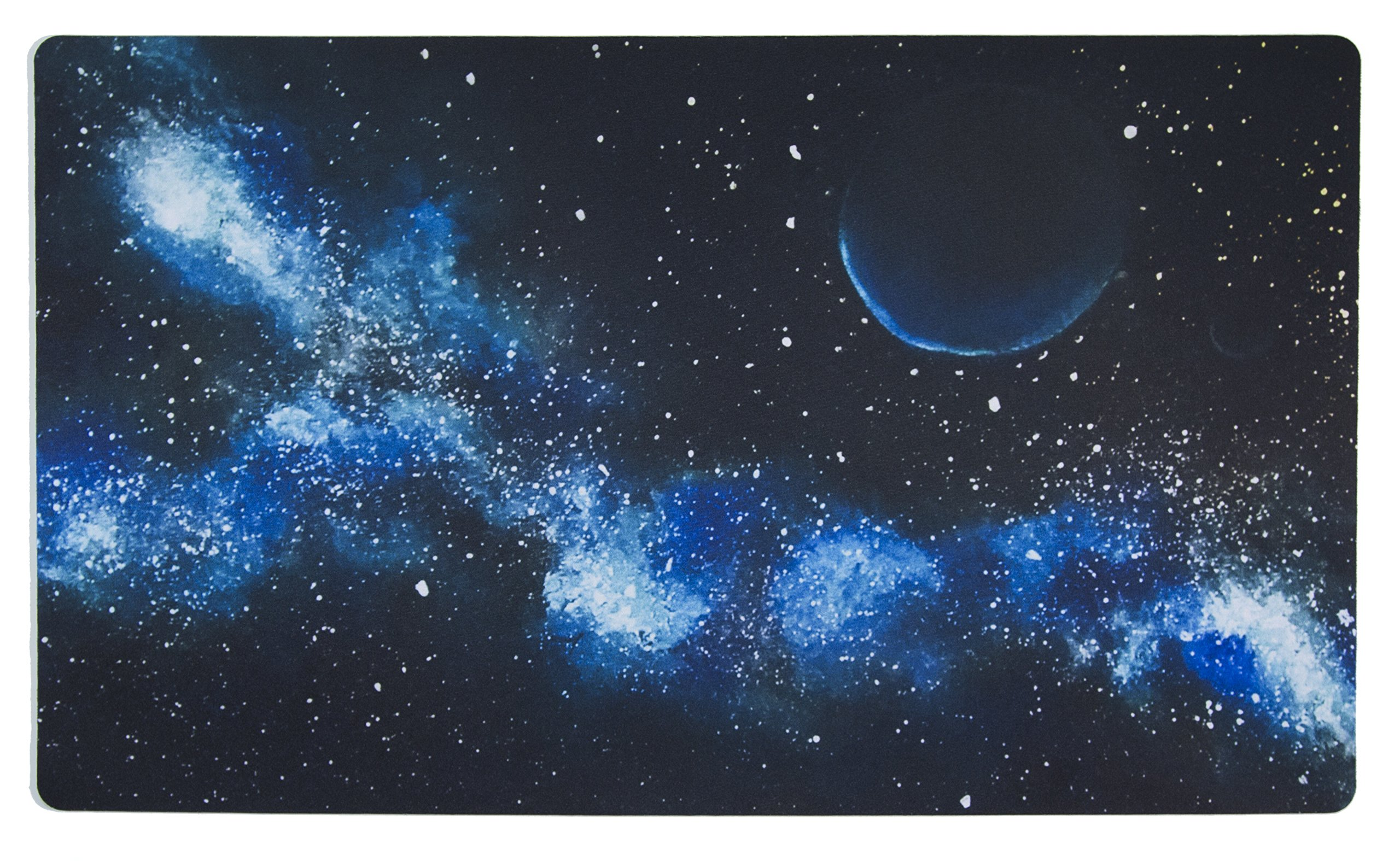 Inked Playmats Blue Galaxy Playmat Inked Gaming Perfect for MtG Pokemon & YuGiOh Magic the Gathering TCG Game Mat