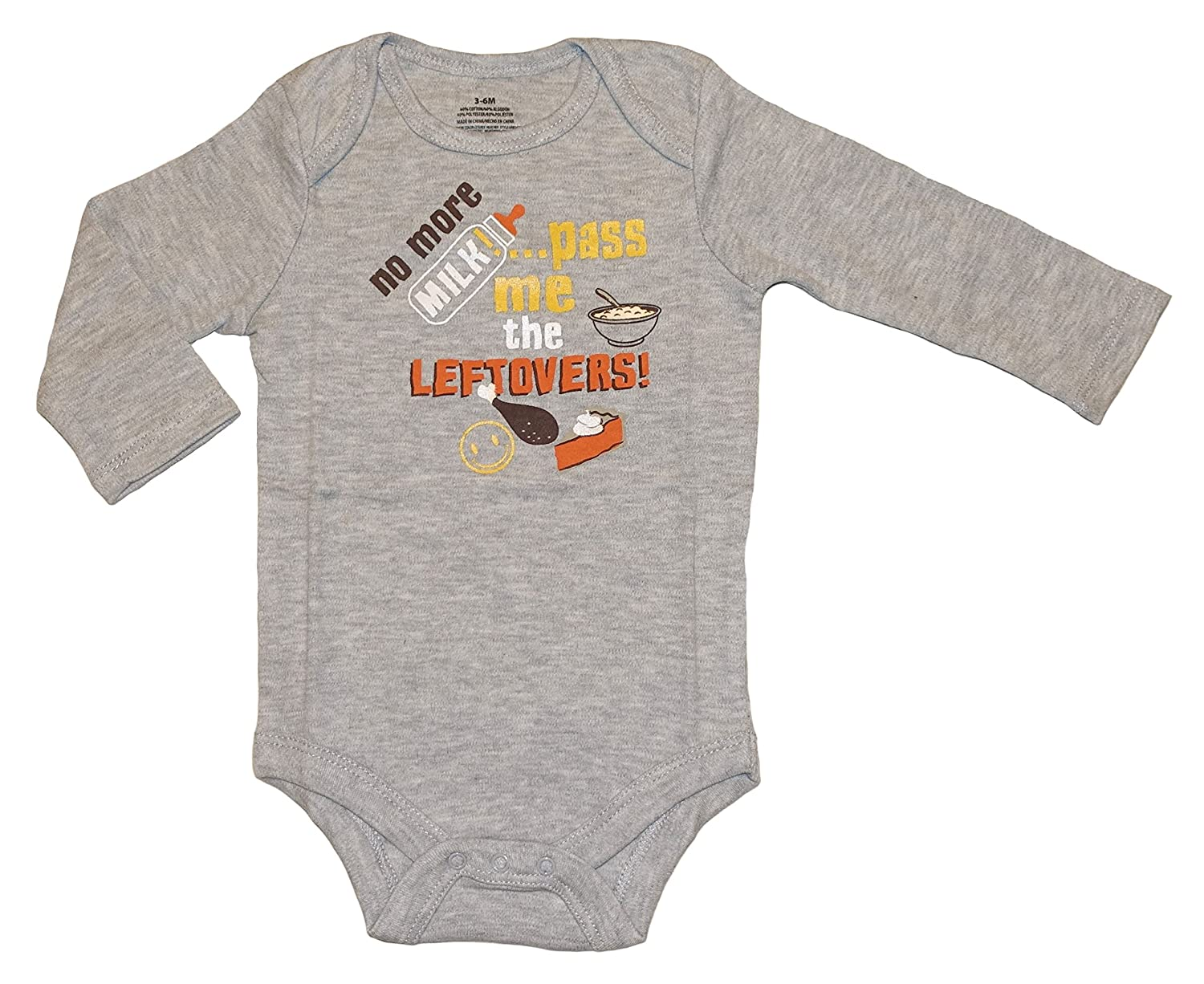 11a8ee731 Amazon.com: Assorted Turkey Baby Boys & Girls Thanksgiving Long Sleeve Bodysuit  Outfit: Clothing