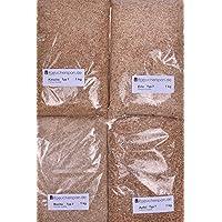 Räucherspäne Räucherchips 4 Holzarten Apfel, Erle, Kirsche, Buche Typ7 Spangröße 1-3mm f. Räucherofen und Smoker Box