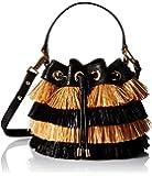 MILLY Raffia SM Drawstring Cross-Body Bag