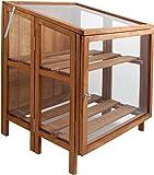 Esschert design - serre pliable en bois fsc et en verre