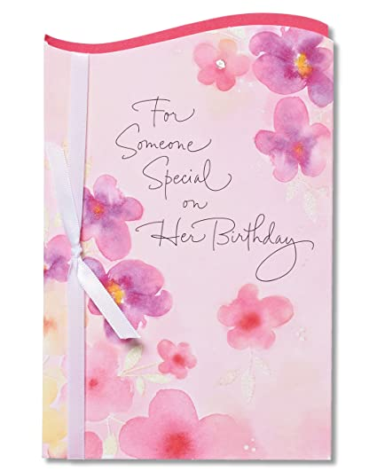 Amazon american greetings floral birthday card for her with american greetings floral birthday card for her with glitter m4hsunfo