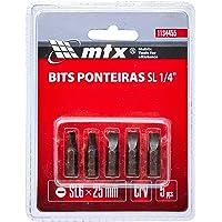 Bits Sl 1/4 6 X 25 Mm, Aco Crmo 5 Peças Mtx