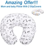 SALE - Mom and Baby Nursing Pillow and Positioner (1 Pillow With TWO Slipcovers), Positioning & Support For Breastfeeding Moms & Baby. A Perfect Present / Great Baby Shower Gift!
