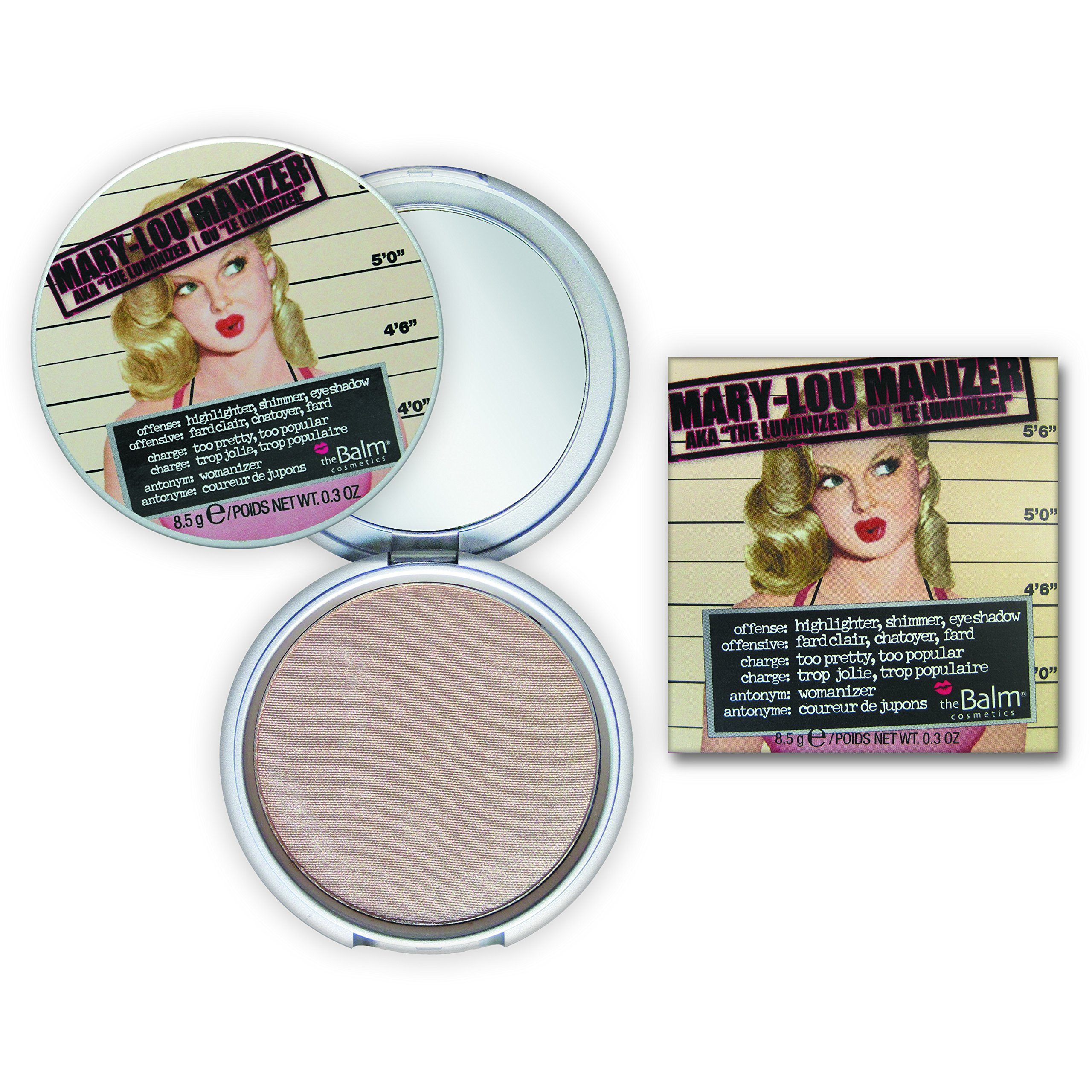 Mary-Lou Manizer Honey-Hued Luminizer, Highlighter, Shadow & Shimmer, Subtle Glow, .32 Oz by theBalm