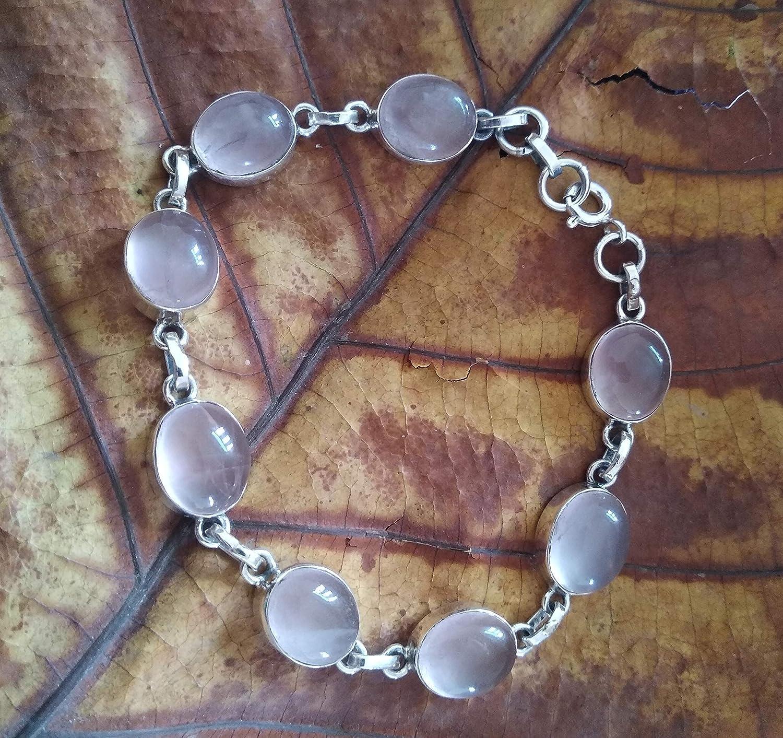 Crystal Quartz Bracelet in Sterling Silver