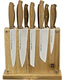Project X by Schmidt Brothers 13 Piece Hudson Home Group Acacian Knife Set, Stainless Steel