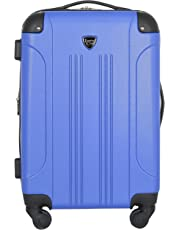 Travelers Club Luggage Chicago 20 Inch Expandable Carry-On Spinner, Cobalt Blue, One Size