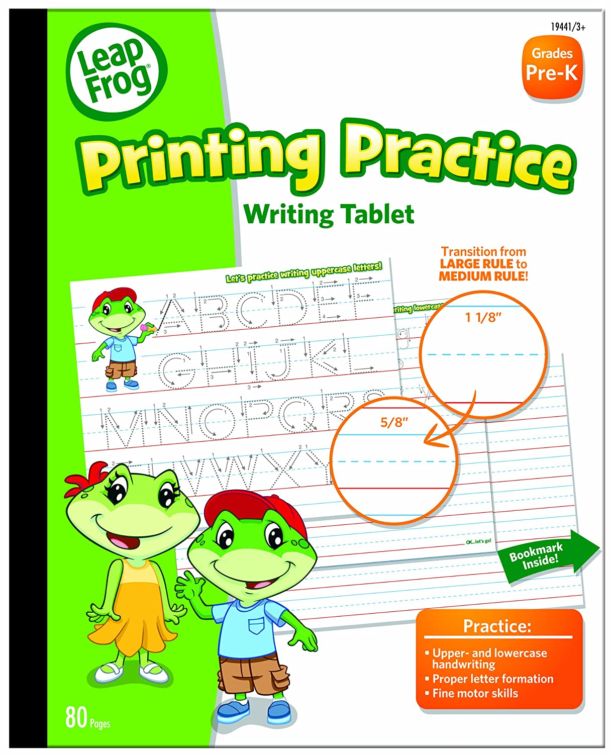 Amazon.com: LeapFrog Printing Practice Writing Tablet with Ruled ...