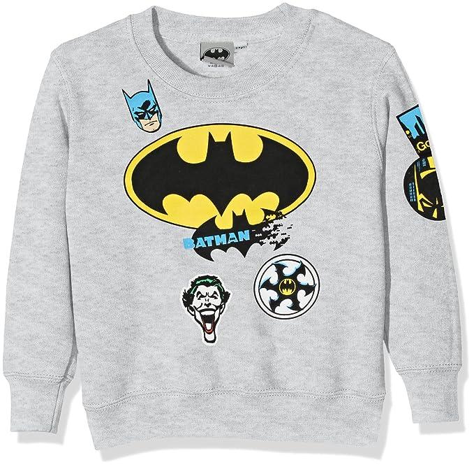 5e5c62279ae7c DC Comic Batman Badge, Sweat-Shirt Garçon  Amazon.fr  Vêtements et ...