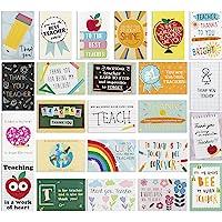 【24 Pack】 Thank You Card for Teacher- Cute Teacher Appreciation Cards in 24 unique Designs- Greeting Card For Teacher…