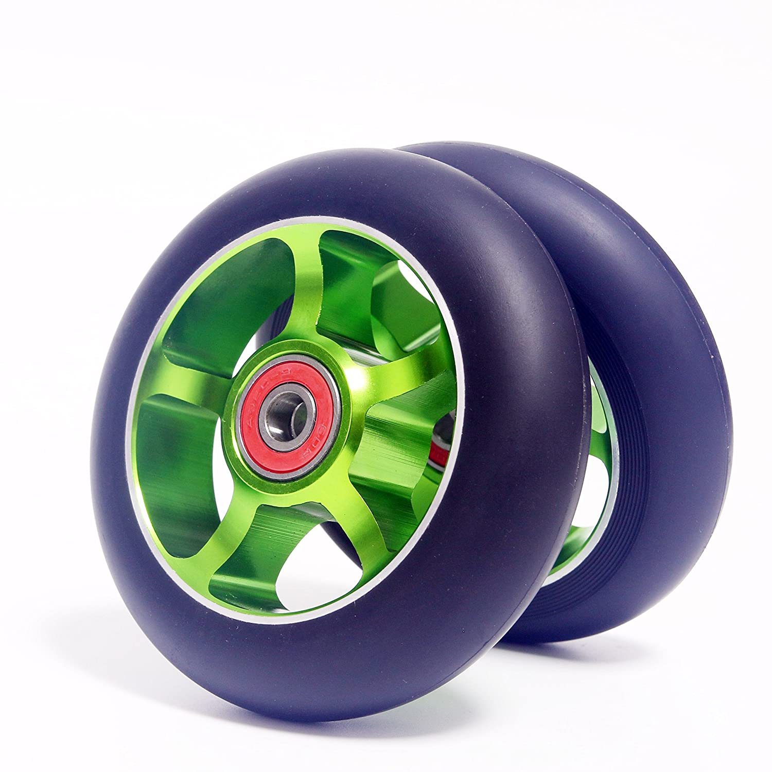 Z-FIRST 2pcs Replacement 100mm Pro Scooter Wheels with ABEC 9 Bearings for MGP//Razor//Lucky//Envy Pro Scooters