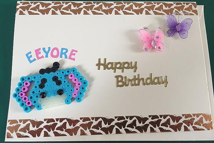 Beautiful Handmade Birthday Card High Quality White Card Glitter