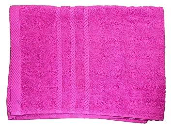 Royal Room Comptoir du Linge 45sbl50 - Lote de 2 Toallas de baño, de 100 x 50 cm, 100% algodón, Fucsia, 50 x 100: Amazon.es: Hogar