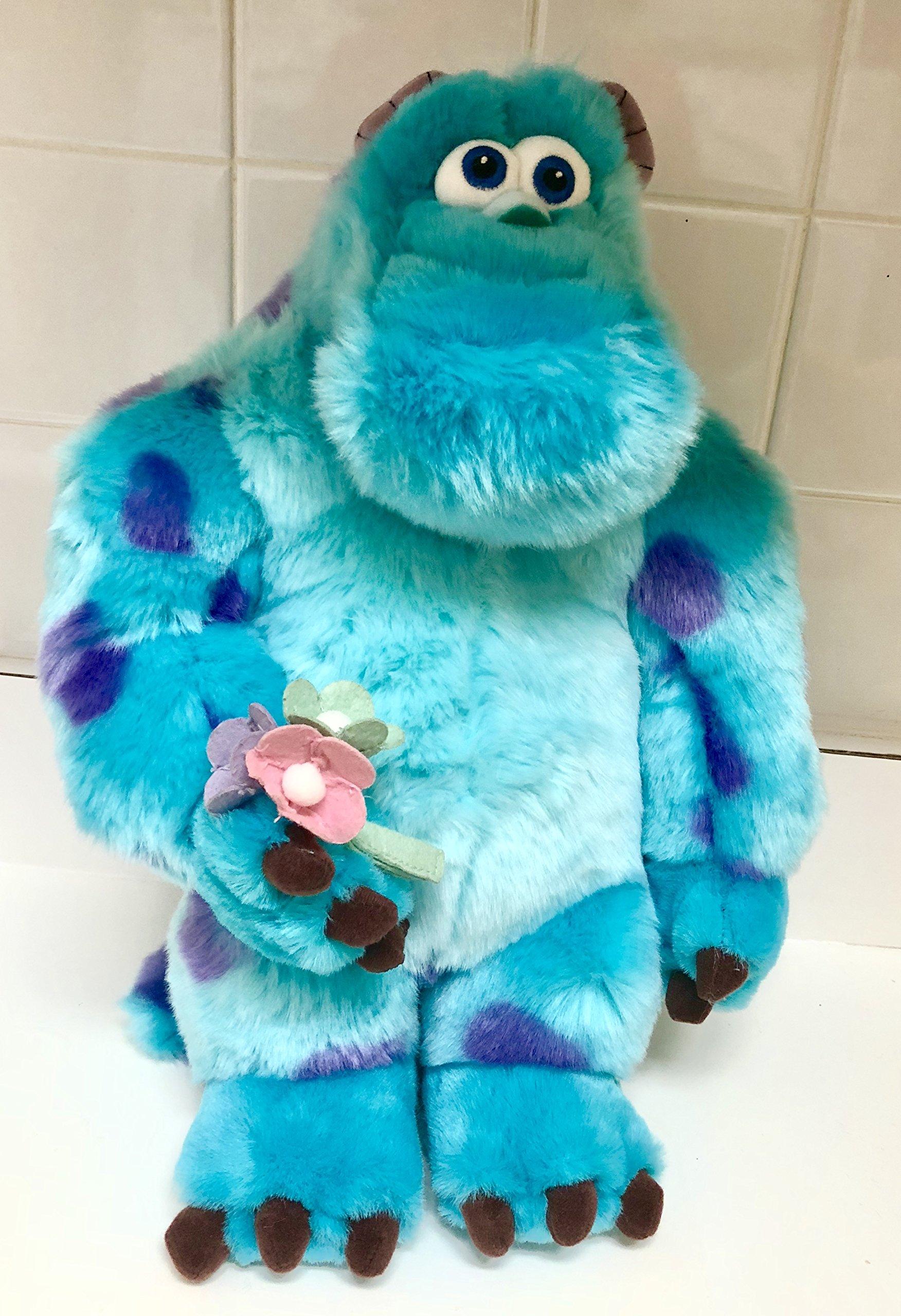 Disney Monster Inc University Sullivan Sully Sulley 16'' Plush Soft Holding Flowers Easter Spring Valentine's Stuffed Toy
