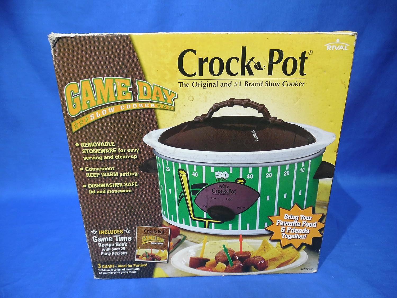 Rival Crock Pot Game Day 3-Quart Slow Cooker