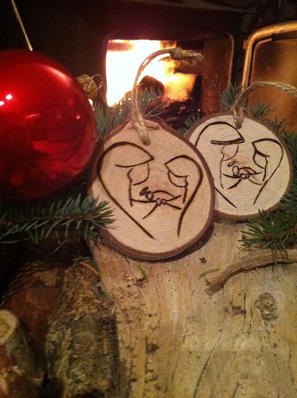 Unique Christmas Ornaments.Amazon Com Nativity Christmas Ornament Holy Family Wood