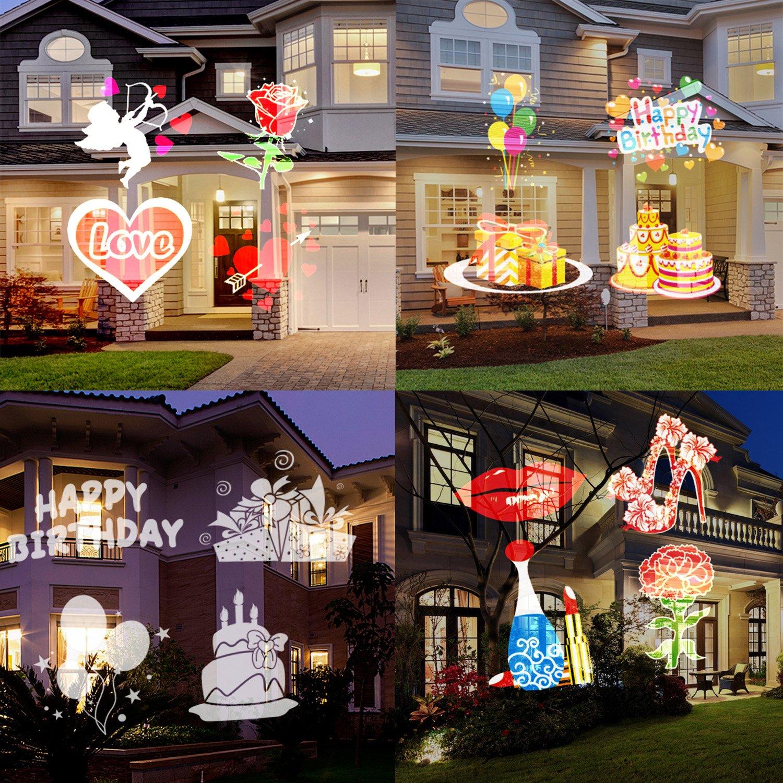 Weihnachtsprojektor beleuchtet wasserdichte LED-Landschaftslichter ...
