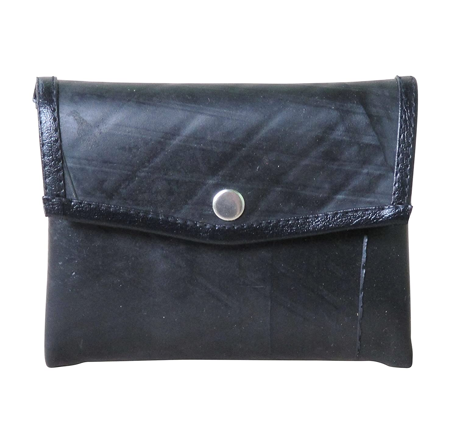 Snap coin purse using upcycled inner tube - FREE SHIPPING - upcycling eco friendly vegan recycled reclaimed salvaged handmade unique gift wallet purse innertube tubes tire rubber bike bikes tyre