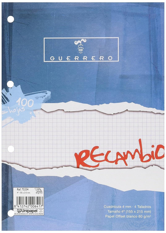 Papyrus 75334 Ricambio 100 Fogli, 4 Perforazioni, Griglia 4