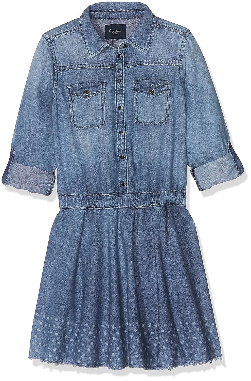 Denim (10oz Cloth Polkadots) 4 ans Pepe Jeans Robe Fille