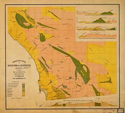 Amazon Com Vintography 8 X 12 Inch 1893 California Old Nautical Map