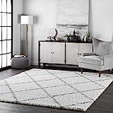 "nuLOOM Tess Cozy Soft & Plush Modern Area Rug, 5' 3"" x 7' 6"", White"