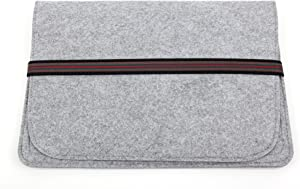 DURAGADGET Grey Felt Case with Elasticated Strap for The Acer Chromebook CB3-131-C3SZ