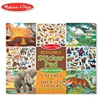 Melissa & Doug Reusable Sticker Activity Pad - Jungle & Savanna Toy