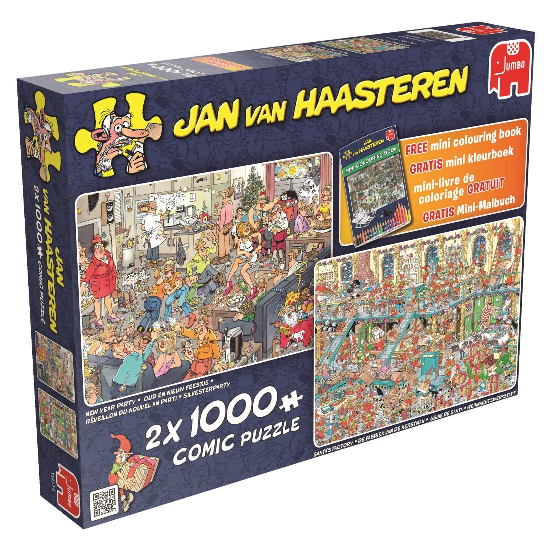 Jumbo Games Jan Van Haasteren Happy Holidays Jigsaw Puzzles 2 X 1000 Piece Amazoncouk Toys
