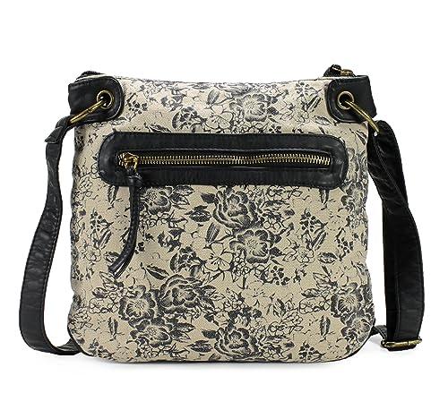 76d8d391a256 Scarleton Trendy Fabric Crossbody Bag H191401 - Black  Amazon.ca ...