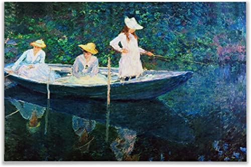 Monet Wall Art Collection Canvas Women Fishing