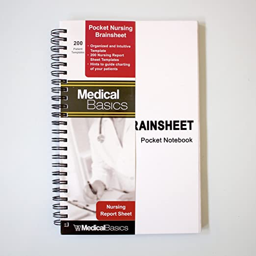 AmazonCom  Pocket Nurse Report Sheet Notebook  Brain Sheet