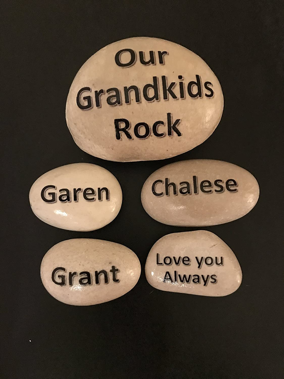 Amazon.com: Your Family Rocks - Set of personalized stones for your ...