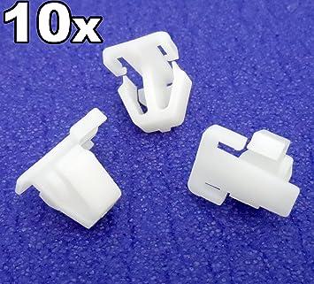 10 x Clips, remache plástico, Grapas - Honda Plástico Recorte clips para embellecedores laterales