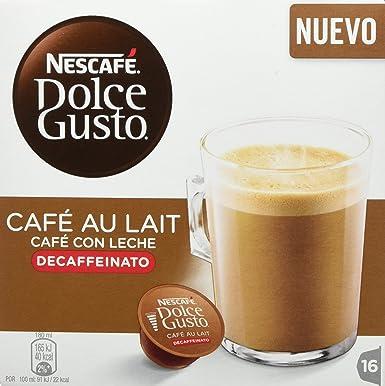 Nescafé Dolce Gusto - Café con Leche Descafeinado - 16 Cápsulas