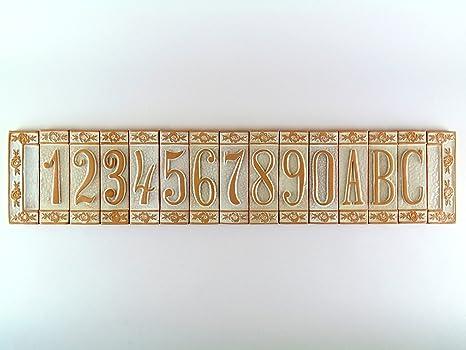 Numeri civici in ceramica piastrelle in terra cotta numero civico