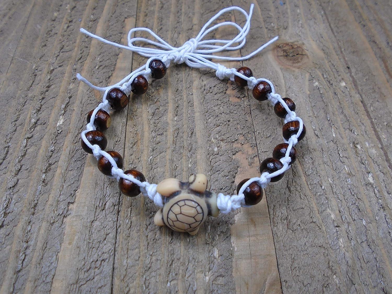 BEACH HEMP JEWELRY Sea Turtle Anklet Bracelet Adjustable Handmade In USA