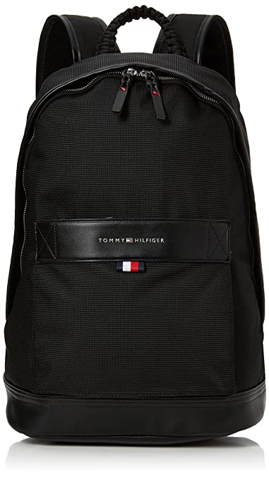 47da552b14e Tommy Hilfiger Tailored Backpack, Men s Black, 18x45x30 cm (B x H T ...