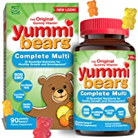 Yummi Bears Complete Multivitamin and Mineral Supplement, Gummy Vitamins for Kids, 90 Count (Pack of 1)